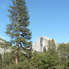 Here is the first photo I took of Half Dome.  Hopefully soon, I'll have more photos from the top!
